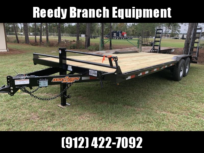 """New 102""""x24' Drive Over Fenders Equipment Trailer by Down 2 Earth"""