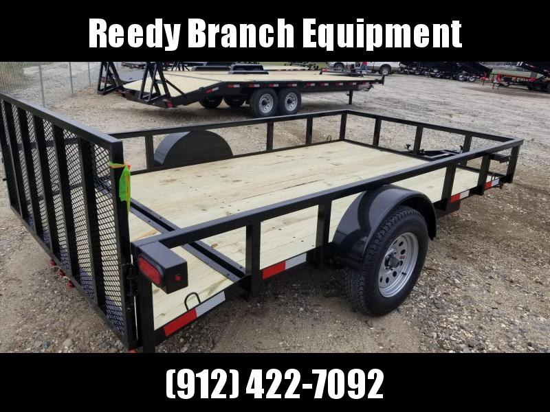 "New 76""x12' Dovetail Utility Trailer by Down To Earth"