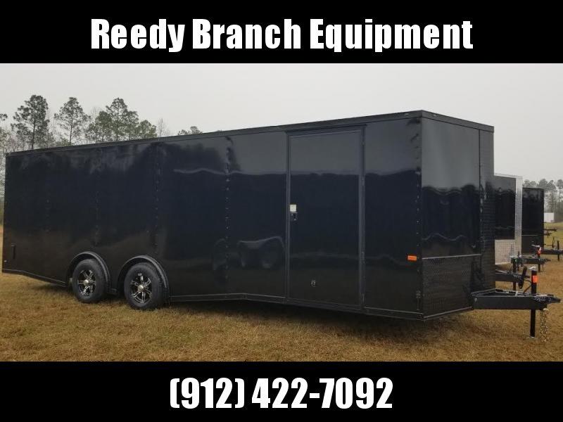 8.5x24 Black Blackout Elite Spread Enclosed Cargo Trailer