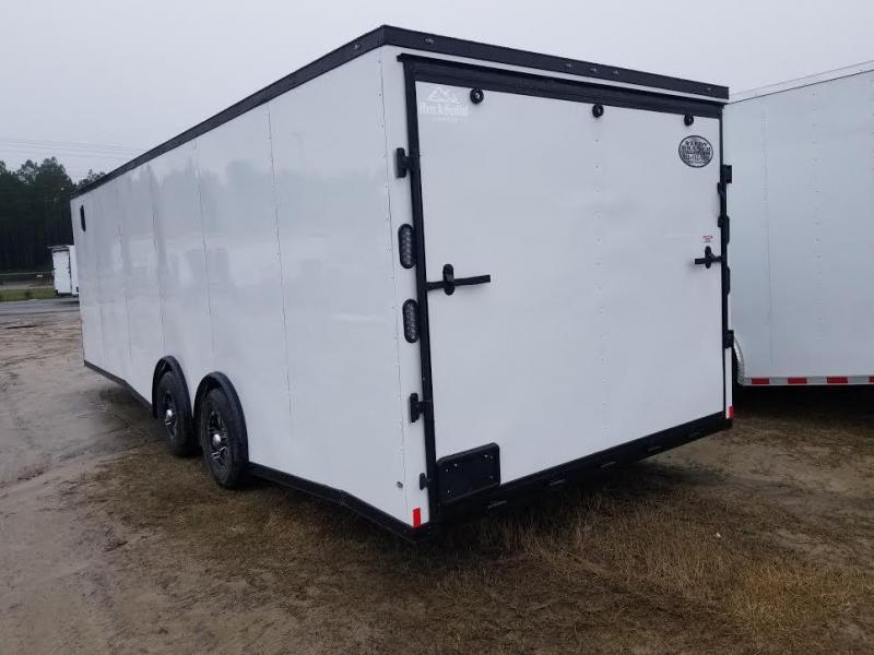 8.5x24 White Blackout Elite Spread Enclosed Cargo Trailer