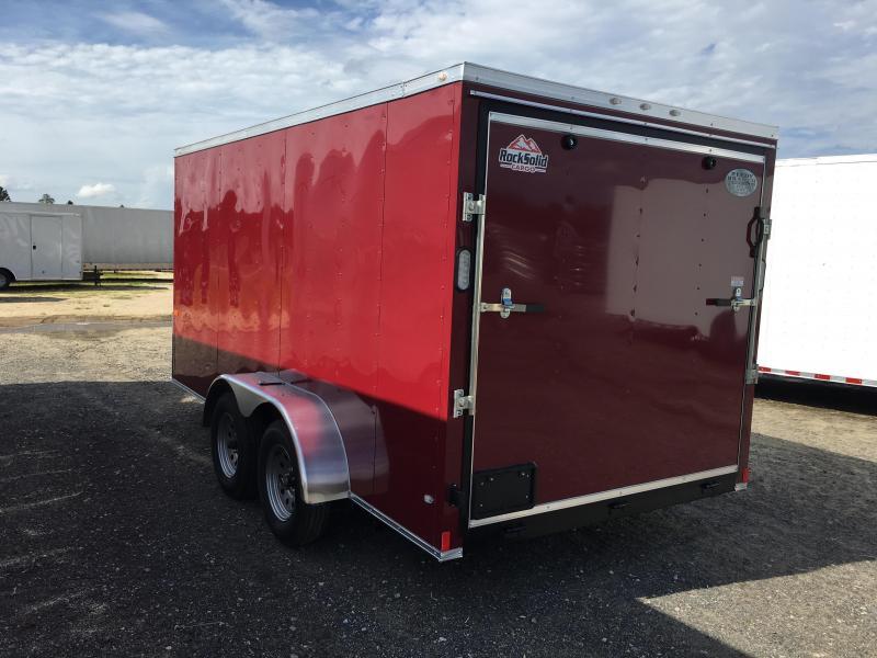 New 7x14 Brandy Wine Enclosed Cargo Trailer- Rock Solid Cargo