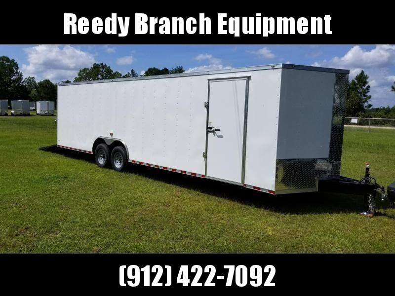 New 8.5x28' Enclosed Car Hauler (14K GVWR)  Rock Solid Cargo