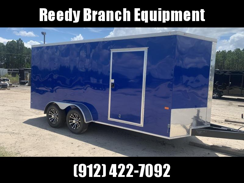Rock Solid Cargo 7x16-5200lb Electric Blue Enclosed Cargo Trailer