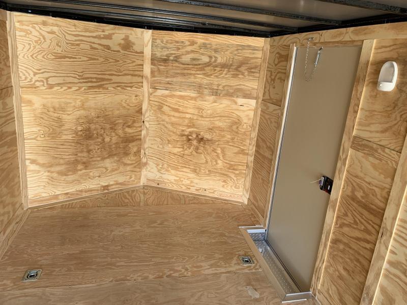 New 8.5x24 5200lb Pewter Enclosed Car Hauler Rock Soliid Cargo