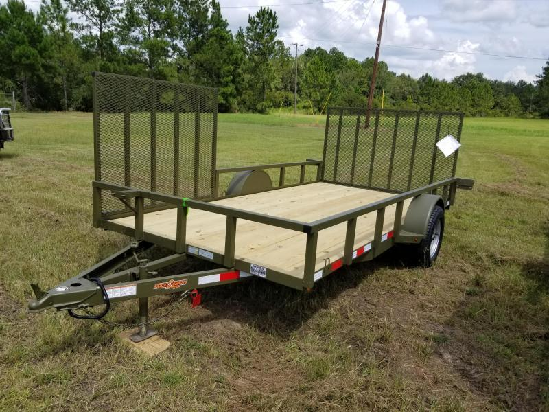 """New 82""""x14' w/ Side Gate Down to Earth Utility Trailer!"""