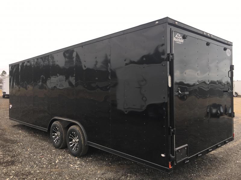 New 8.5x24 Blackout Elite (5200lb) Enclosed Car Hauler