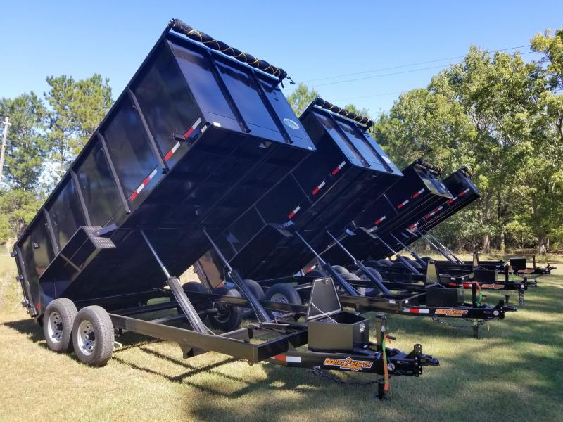 New 7x16 (2' sides) Down to Earth Dump Trailer