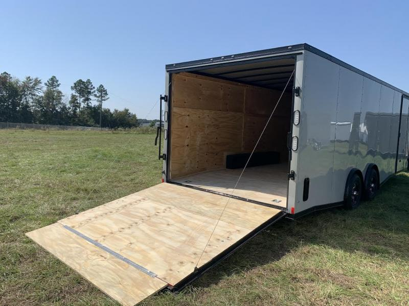 8.5x24 Dove Gray Blackout Elite Spread Enclosed Cargo Trailer