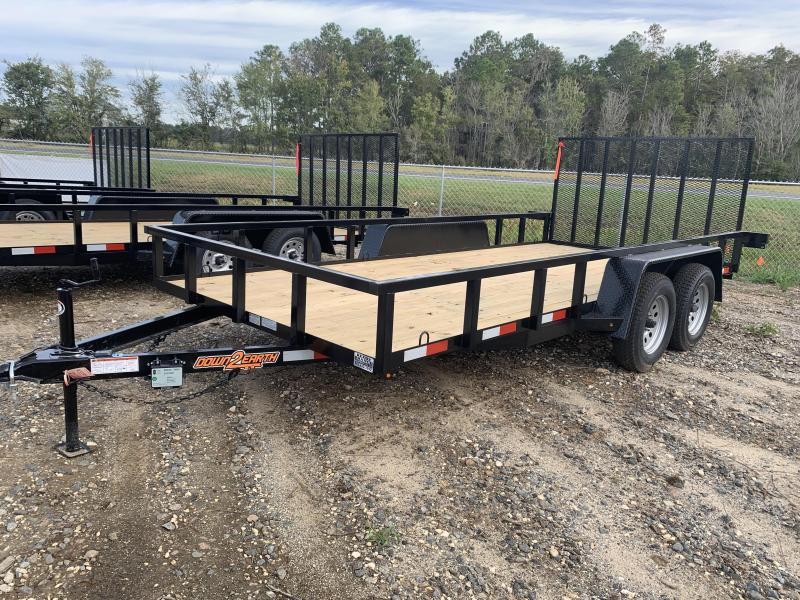 "New 82""x16' Down to Earth Utility Trailer"