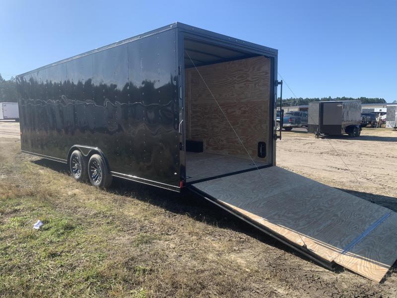 New 8.5x24-5200lb- 7'- Blackout Elite Rock Solid Cargo Trailer