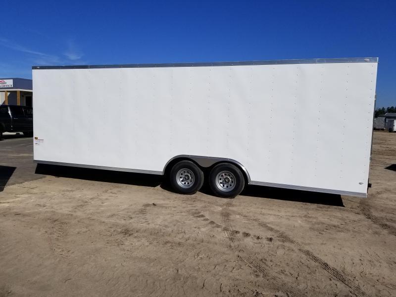New 8.5x24 5200lb Enclosed Car Hauler Rock Solid Cargo