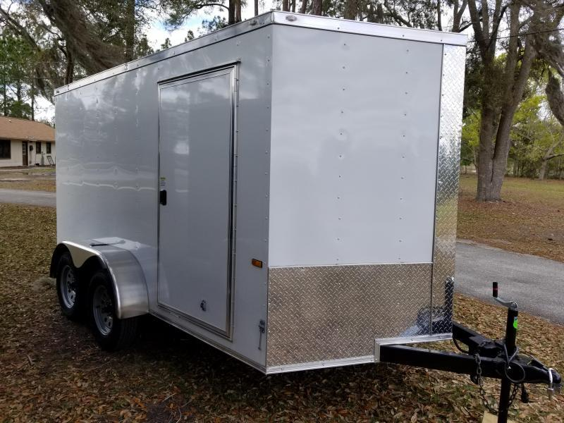 New 6x12 Tandem Axle Enclosed Cargo Trailer (White)
