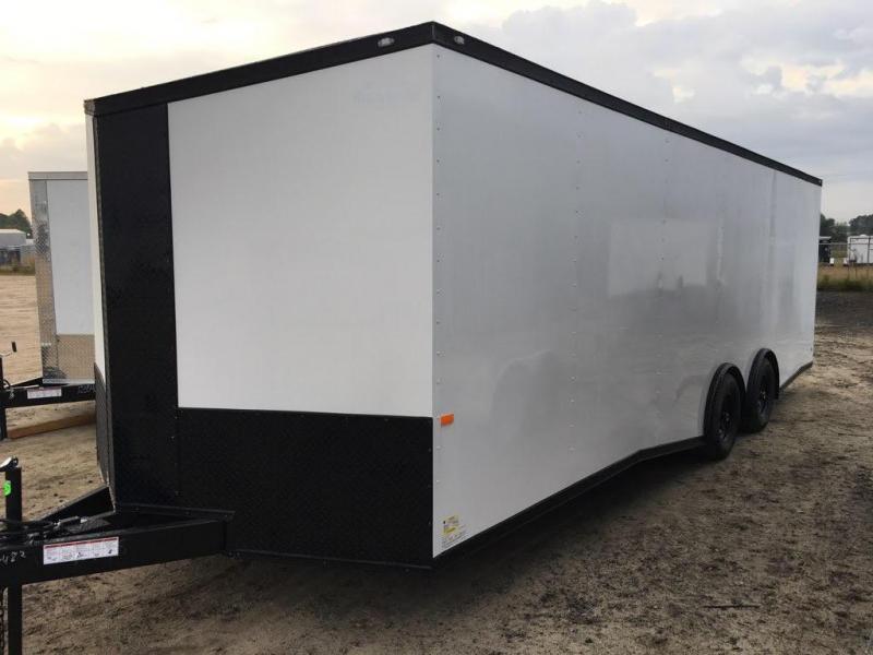 New 8.5x24-5200lb Spread Torsions Enclosed Car Hauler