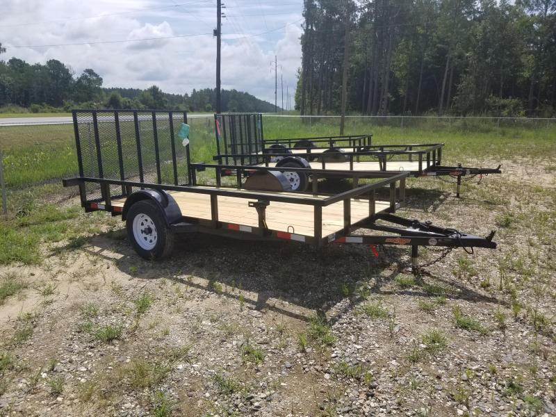 "2020 (76""X12') Down 2 Earth Utility Trailer - white mod rims."