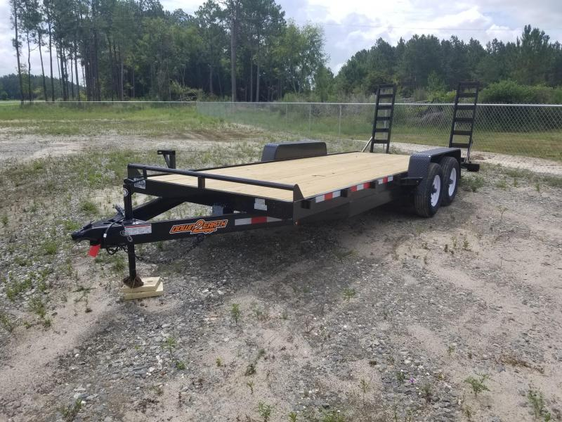 """2020 (White Mod) 82""""x20' 10K Equipment Trailer by Down to Earth"""