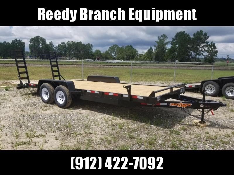 "2020 (White Mod) 82""x20' 10K Equipment Trailer by Down to Earth"