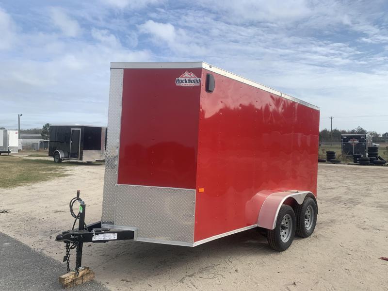 New Red 6x12 TA Rock Solid Cargo Enclosed Trailer (Douglas GA)