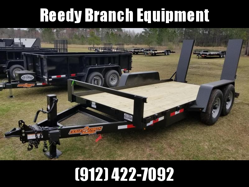 "New 78""x14' (7 Ton) Down to Earth Skidsteer/Forklift) Equipment Trailer 14K GVWR"