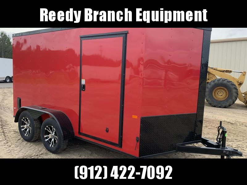 New 6x12TA Red Blackout Elite Enclosed Trailer (Upgraded Metal)