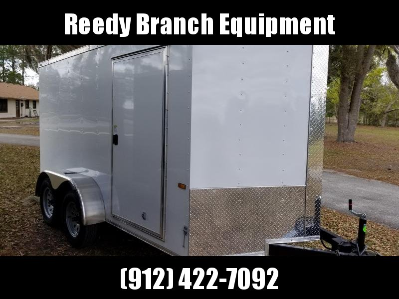 New 6x12 Tandem Axle Enclosed Cargo Trailer (White or Black)