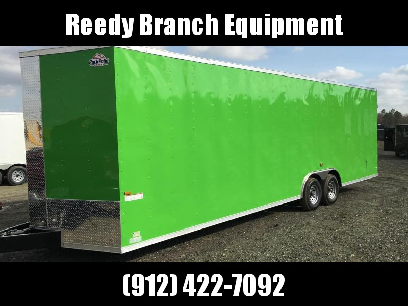 New 8.5x28-5200lb Electric Green Rock Solid Cargo Custom Build