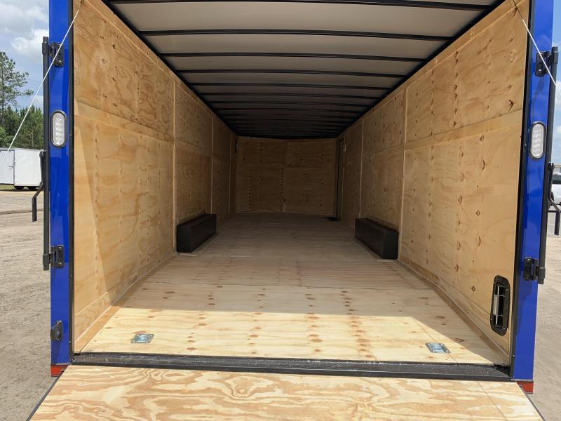 New 8.5x28-Electric Blue Blackout 14K-GVWR Enclosed Cargo Trailer