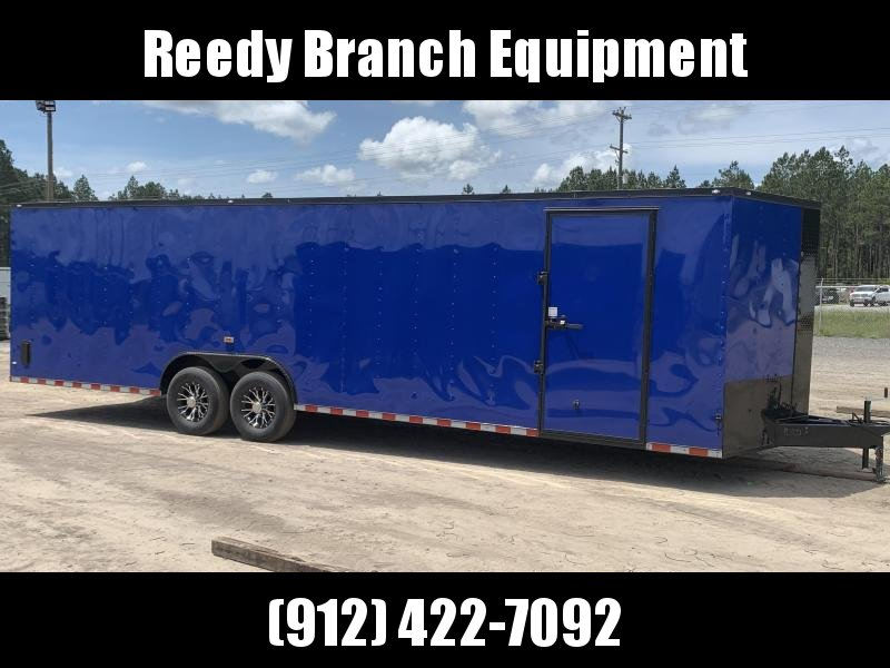New 8.5x28-Electric Blue Blackout 14K-GVWR Enclosed Cargo Trailer $7550