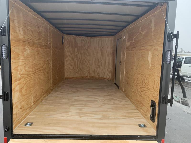 New Rock Solid Cargo 7x14. Ch. Gray Blackout Elite Enclosed Cargo Trailer