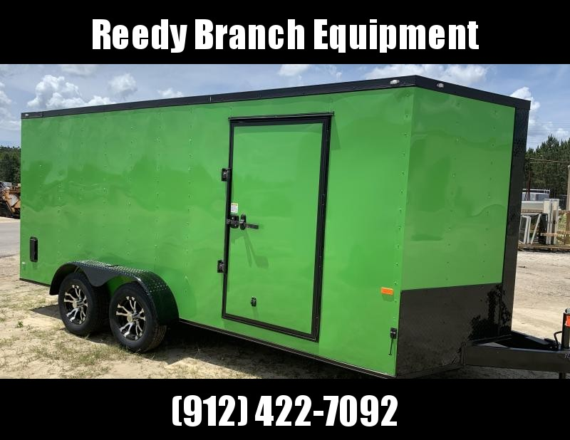 New 7x16 Electric Green Blackout Trailer $4650