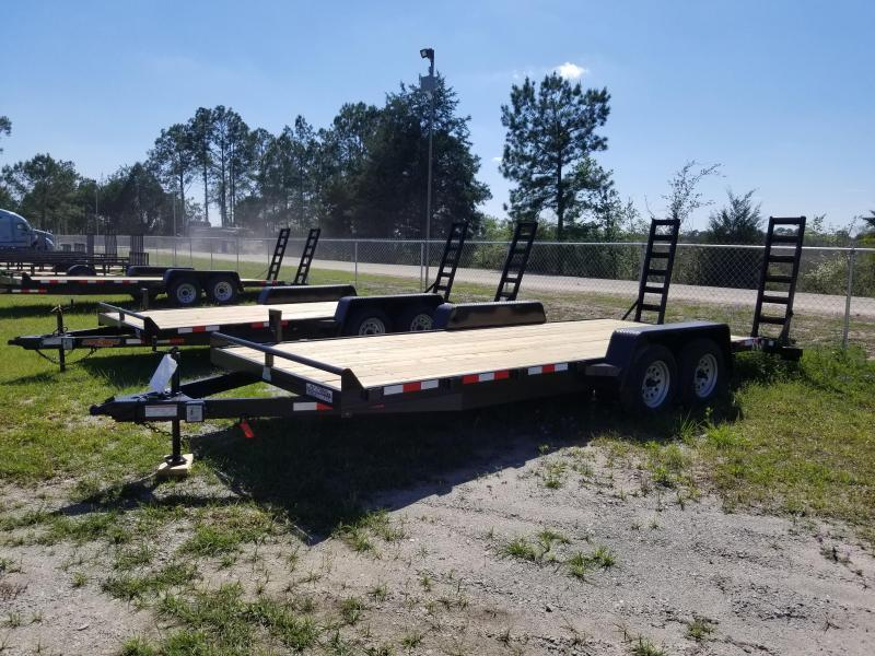 """New 82""""x20' (7K GVWR) Down to Earth Equipment Trailer"""