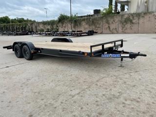 """83"""" X 20' Tandem Axle Car Hauler W/ Rear Slide-in Ramps"""