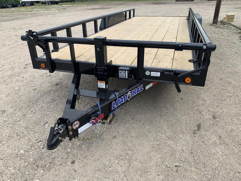 """83"""" x 20' Tandem Carhauler w/Side Rails"""