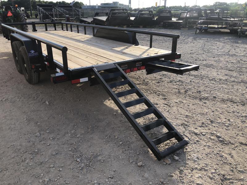 83 x 20' Tandem Carhauler w/Side Rails