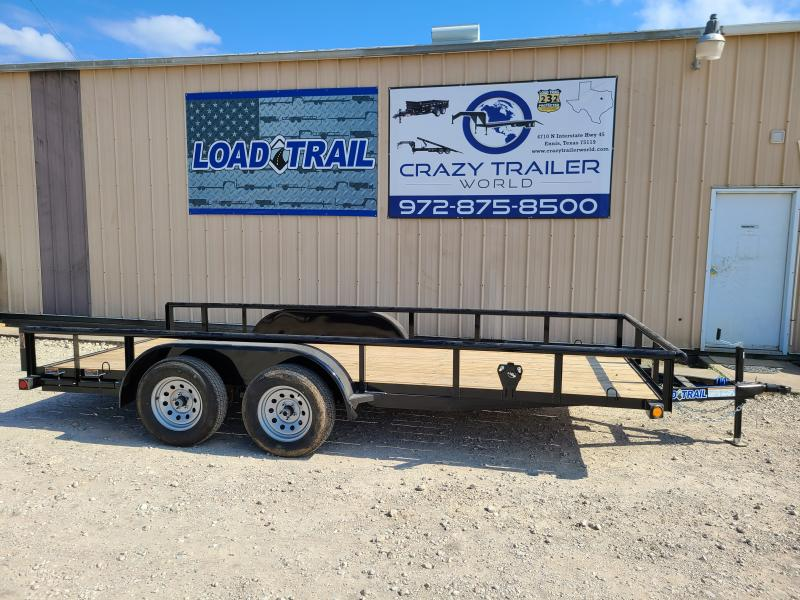"""2021 Load Trail 77"""" x 16' Tandem Axle Utility UE07"""