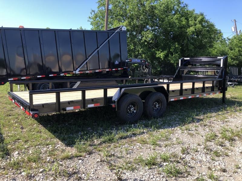 "83"" x 24' Tandem Gooseneck Carhauler w/Side Rails"