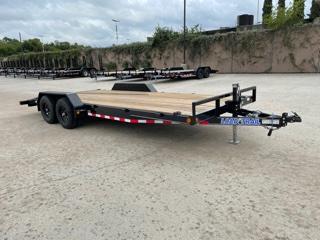 """83"""" x 20' Car Hauler W/ Rear Slide-in Ramps"""