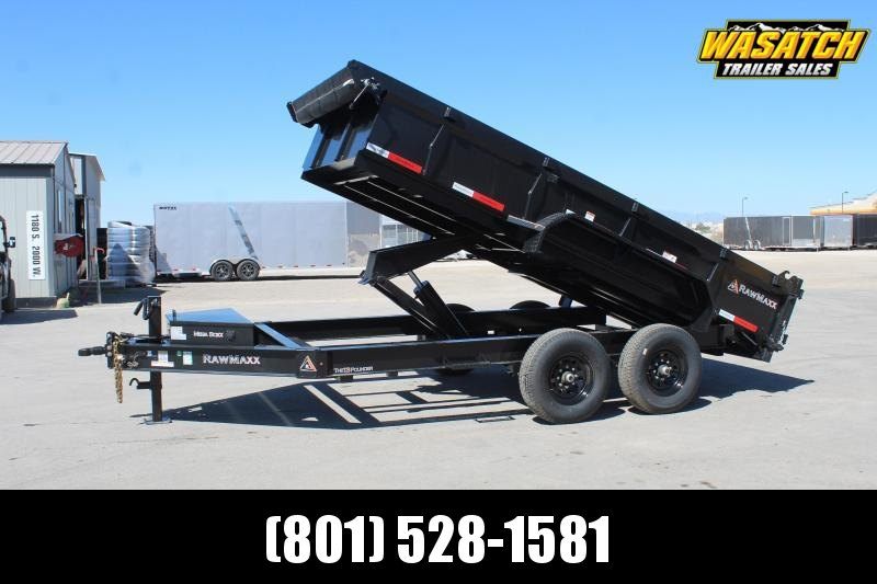 "RawMaxx 7x14 HD 8"" I Beam Dump Trailer"