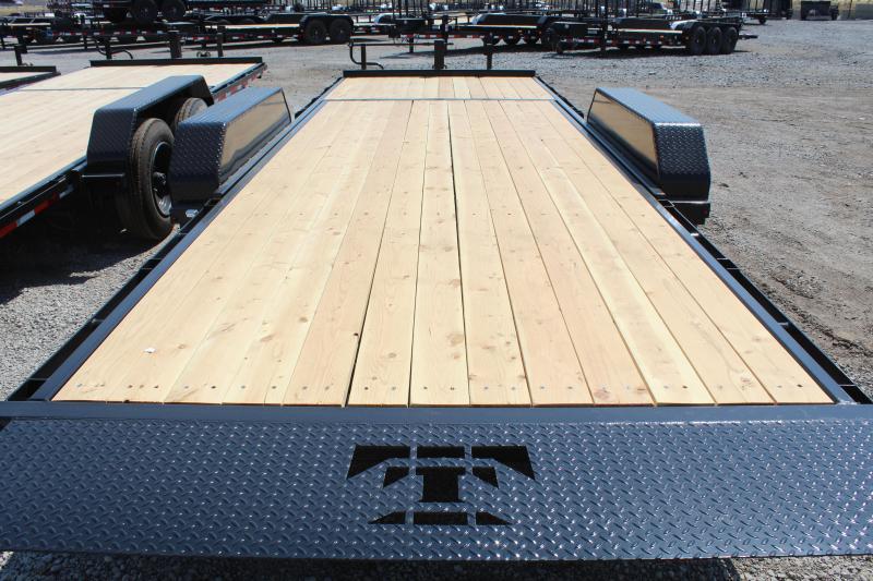 Teton Trailer 7x22 HD Tube Tilt Equipment Trailer