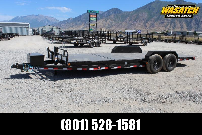 "PJ Trailers 7x20 6"" Channel Tilt (T6) Equipment Trailer"