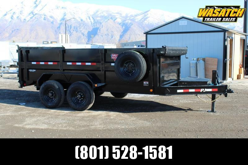 "PJ Trailers 7x14 83"" Low-Pro High Side (DM) Dump Trailer"