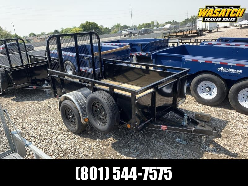 PJ 5x8 Single Axle Channel (U6) Utility w/ 2' Sides