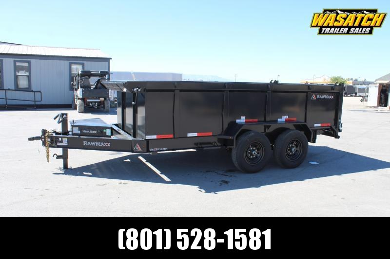RawMaxx 7x14 HD I Beam Dump Trailer