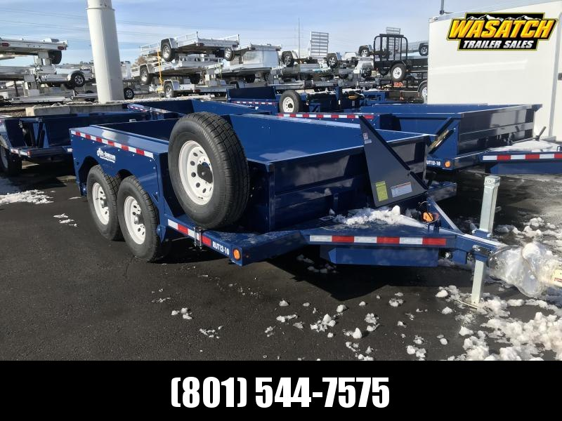 Air Tow UT12-10 Ground-Level Loading Tandem Axle Utility Trailer