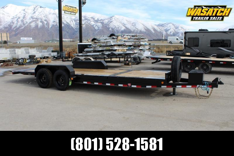 "PJ Trailers 7x22 HD Equipment Tilt 6"" Channel (TJ) Equipment Trailer"