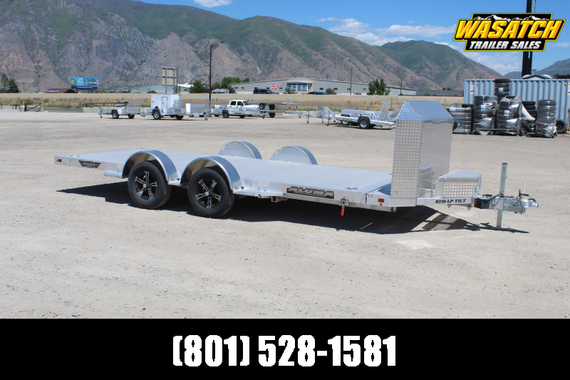 Aluma 8218 LP Aluminum Tilt Car / Racing Trailer