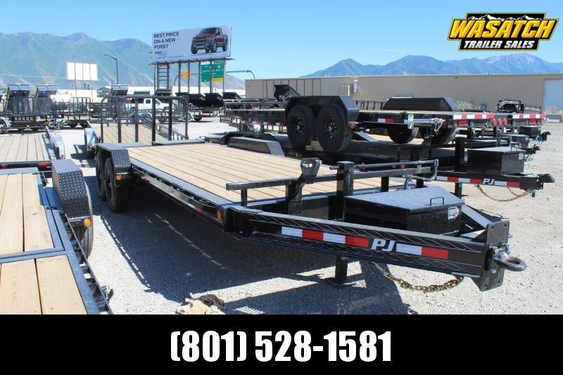 "PJ Trailers 7x22 8"" Pro-Beamâ""¢ Equipment (H4) Equipment Trailer"