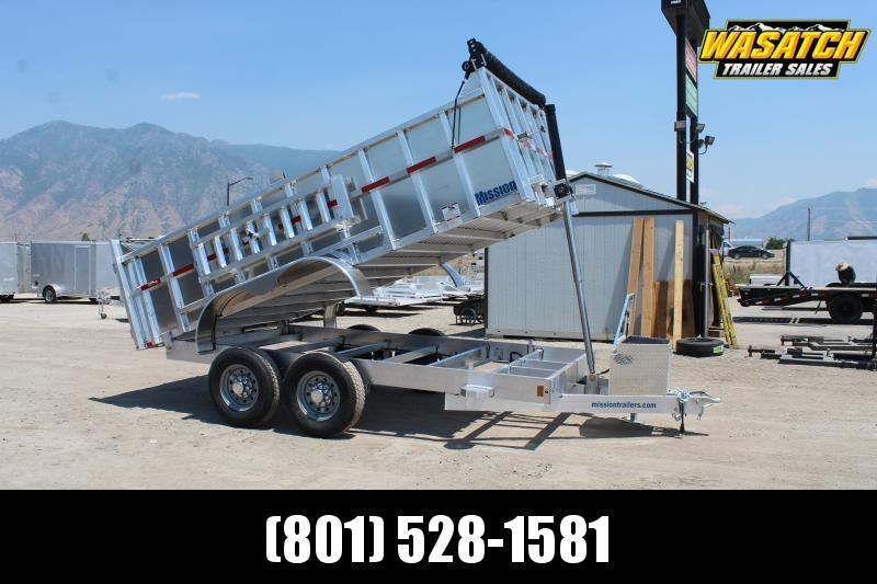 Mission 7x14 HD Aluminum 14k GVWR Dump Trailer