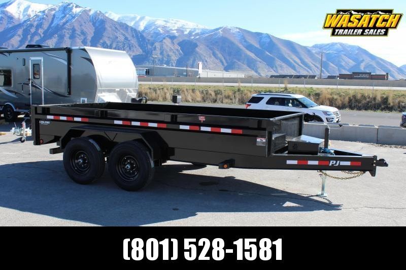 PJ Trailers 7x14 14K Low-Profile (DG) Dump Trailer