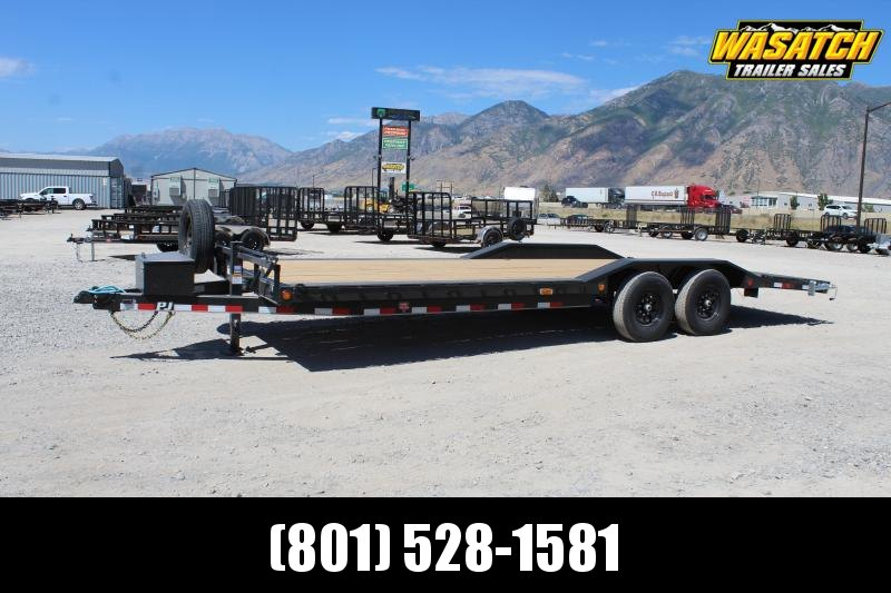 "PJ Trailers 85x24 6"" Channel Super-Wide (B6) Equipment Trailer"
