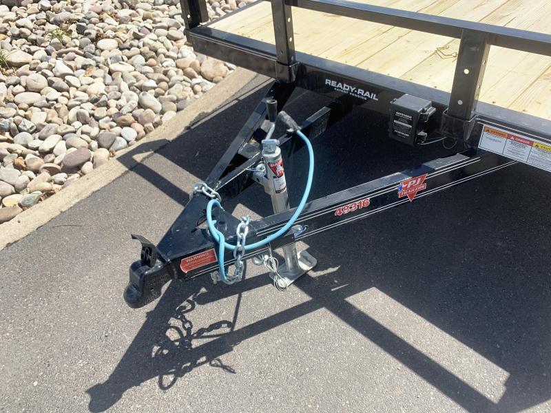 PJ 7x16 Tandem Channel Utility (UL) w/ Ramps for ATV / UTV / RZR